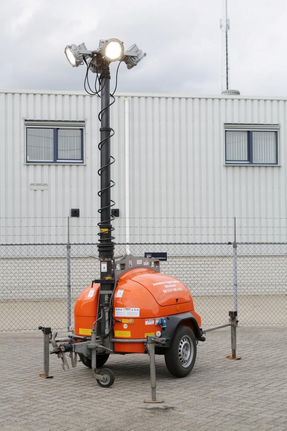 Zuinige Mobiele lichtmast , 360 graden