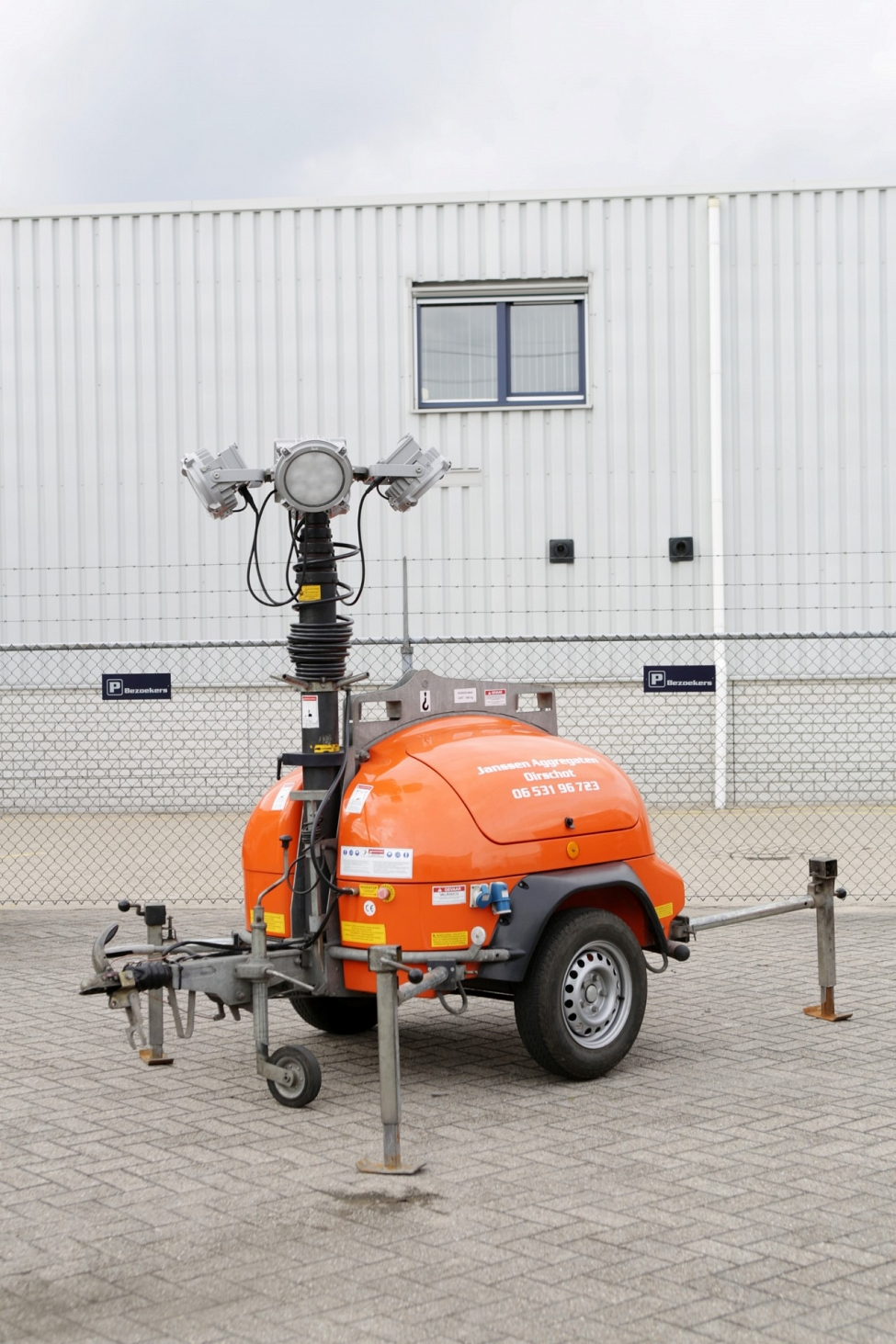 Handig Transport Mobiele Lichtmast