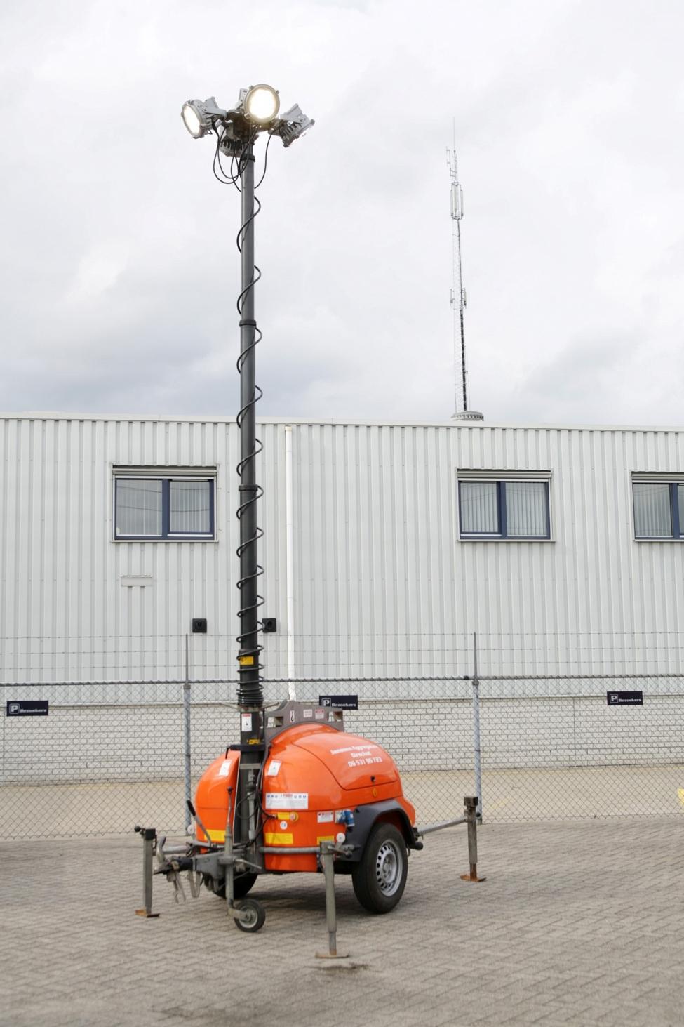 Mobiele lichtmast huren Oirschot tot 9 meter